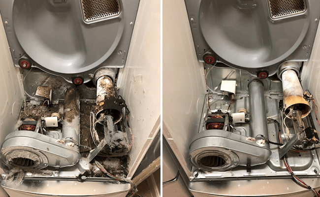 Dryer repair before and adter.fw